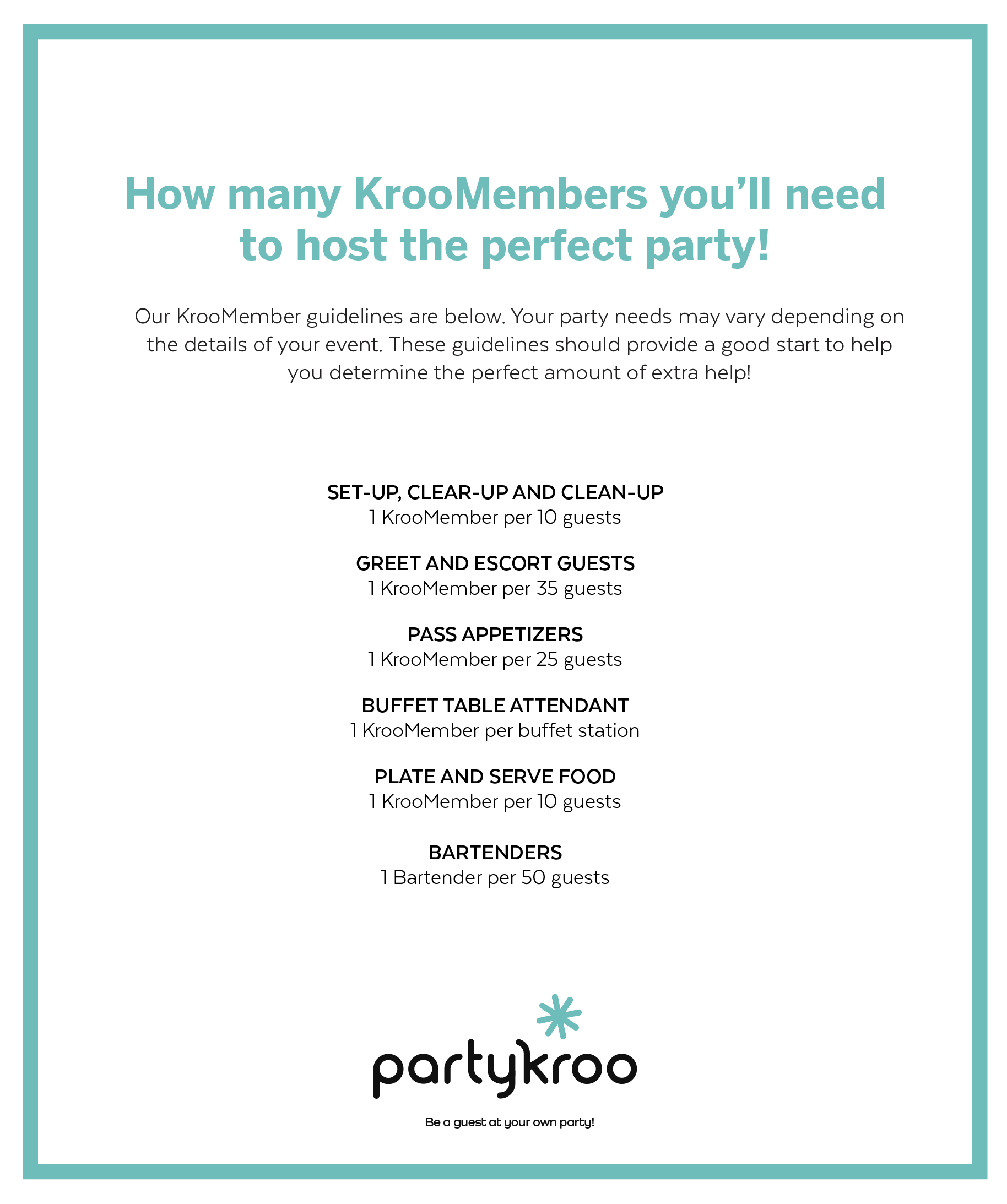 Party Staff Guide Partykroo